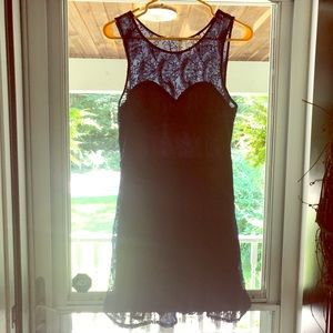 Nordstrom Rack Navy Blue Lace Dress
